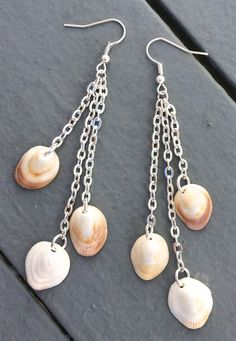 Seashell earrings chandelier shell earring by ALittlePieceOfTheSea