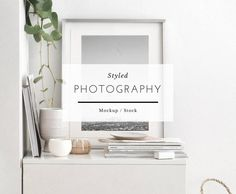 Styled frame mockup - △ Frame mockup is a perfect styled mock-up background to show your artwork, prints, posters or photography in your online shop. How To Make Logo, Your Design, Minimalist, Social Media, Mockup Templates, Box Mockup, Design Templates, Frame, Poster