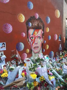 David Bowie memorial. Photo by Harry Lewis.