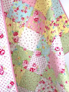 Your place to buy and sell all things handmade Baby Girl Bedding, Quilt Baby, Baby Girl Quilts, Girls Quilts, Rag Quilt, Long Arm Quilting Machine, Crazy Quilting, Quilting Ideas, Quilt Patterns