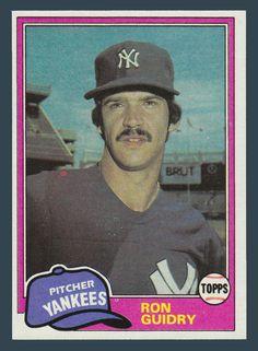 1981 Topps Ron Guidry Baseball Card for sale online Softball Pitching Machine, Baseball Pitching, Baseball Boys, Football And Basketball, Baseball Teams, Baseball Stuff, Giants Dodgers, New York Yankees, Mlb Players