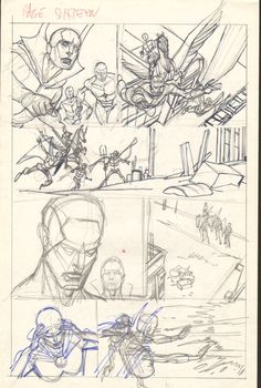 Gil Kane  - Defenders Giant Size #2 pg 16 layouts Comic Art