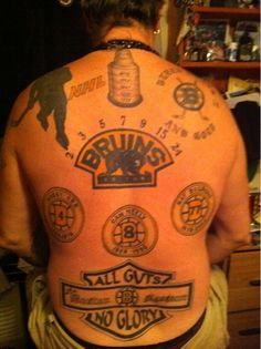 very big bruins fan tattoos and piercings pinterest hockey and tattoo. Black Bedroom Furniture Sets. Home Design Ideas