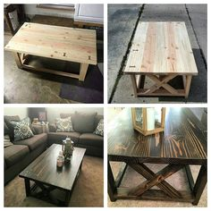 Sold a rustic coffee table. Customer did a great job finishing #pinterest#anawhite#diy#rustic#handmade#woodwork#restoration#woodart#craft#tools#table#furniture#living#unique#finewoodworking#projects#home#house#carpenter#safety#new#like4like#family#friends#instagood#design#workflow#happiness de lee_designs_woodworking