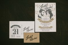 illustrated wedding invitations // photo by ArrowAndApple.com // design by JackAndTill.com