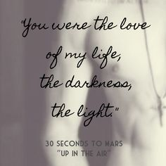 "30 SECONDS TO MARS ""Up In TheAir"" Jared Leto lyrics INSTAGRAM: @wordsandlyrics"