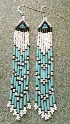 Native American Beaded Earrings | Native American Beaded Earrings by prettyuniquedesigns2 on Etsy