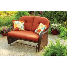 Better Homes and Gardens Azalea Ridge Patio Glider, Walmart.com. $288 (and great reviews, to boot!)