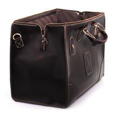 Vintage Handmade Leather Travel Bag / Luggage / Duffle Bag