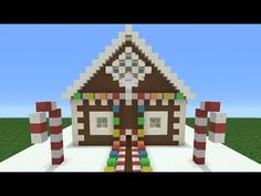Minecraft Tutorial: How To Make A Christmas Themed House Minecraft Mods, Minecraft Garden, Minecraft Plans, Amazing Minecraft, Minecraft Videos, Minecraft Tutorial, Minecraft Blueprints, Minecraft Crafts, Minecraft Stuff