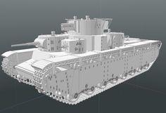#lowpoly #3dmodel #foundry #modo  тяжёлый танк Т-35 #unrealengine
