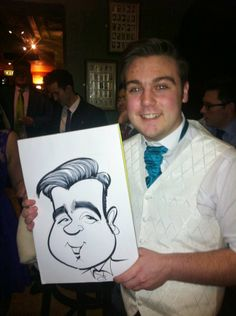 Barnsley Wedding caricatures