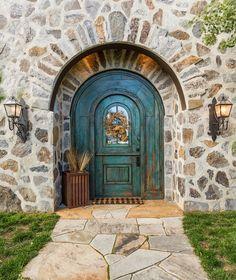 turquoise door   Mountain Architecture Design Group
