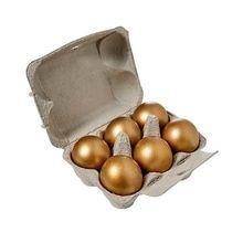 Six Golden Praline Eggs