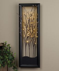 Clear LED Willow Branch Wall Art