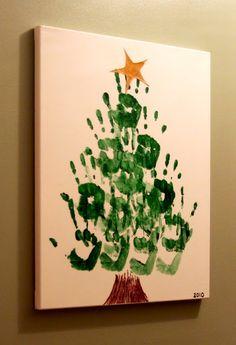 handprint christmas tree | Simsbury Skirt: Handprint Christmas Tree