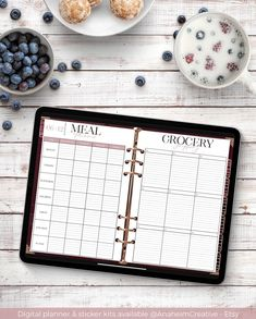 Weekly meal planner and grocery lists included in both the 18-month Burgundy and the 18-month Emerald digital planners for Goodnotes! Now available in the etsy store. Link in bio. Happy planning! #plannercommunity #plannerobsessed #plannernerd #plannerlove #plannergirl #planneraccessories #plannersupplies #plannerstickers #plannerlife #plannergeek #digitalart #etsyshop #etsyseller #washitape #etsysellersofinstagram #supportsmallbusiness #girlboss #etsysale #goodnotes #digitalplanner… Weekly Meal Planner, Life Planner, Good Notes, Grocery Lists, Meals For The Week, Planner Stickers, Etsy Store, Planners, Emerald