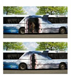 Awesome National Geographic Bus Skin Promo #sharks