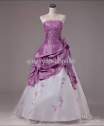 Purple Red Wedding Dresses Embroidered Bridal Sweet Hand Made Flower Lovely High Quality Sexy Princ