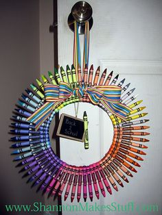 another crayon wreath
