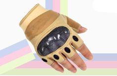 Men's Hard Knuckle Half Finger Gloves