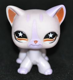 $19.01 LITTLEST-PET-SHOP-Lot-of-1-LPS-Pink-Star-Eyes-Sassiest-CAT-KItty-933