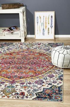 View Rug Culture Museum Preston Multi Coloured Floor Area Rugs at Swan Street Sales. Shop online or visit our store for the largest range of Floor Rugs at the best prices. Bohemian Design, Bohemian Rug, Bohemian Style, White Bohemian, Boho Rugs, Boho Designs, Fade Styles, Polypropylene Rugs, Transitional Rugs