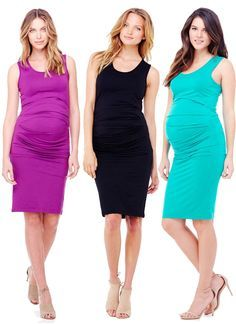 Chic, soft and comfortable, the maternity dress that beautifully accentuates your growing belly. Maternity Wear, Maternity Fashion, Maternity Dresses, Maternity Style, Post Baby Belly, Baby Baker, Pregnant Model, Pregnancy Fashion, Mommy Fashion