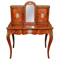Antique Victorian Bonheur Du Jour Sevres Plaques circa 1860   From a unique collection of antique and modern desks and writing tables at https://www.1stdibs.com/furniture/tables/desks-writing-tables/