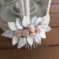Diy And Crafts, Arts And Crafts, Baby Jewelry, Wedding Hair Clips, Hair Beads, Hair Vine, Cold Porcelain, Barrette, Diy Art