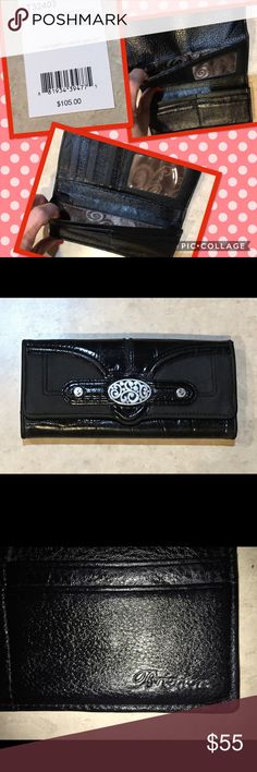 """Brighton Wallet Brighton ♥️ """"Contempo"""" Large Wallet. Trifold. Inside: 11 credit card 💳 slots, two separate full length slots for cash 💰 and checkbook. Outside back full length slot for cash 💰 and zippered slot for coins. Outside front """"Contempo"""" design & snap closure. Very nice. Brighton Bags Wallets"""