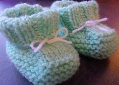 Chaussons bébé 0/3 mois au tricot