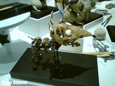 Armature for Frankenweenie stop motion puppet dog