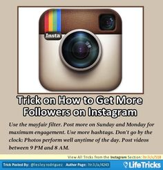Instagram - Trick on How to Get More Followers on Instagram