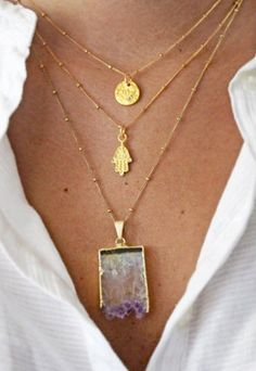 Amethyst necklace... Love the whole combo