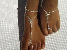 Barefoot Sandal Swarovski Crystal Bridal by SubtleExpressions