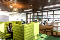 City West Water Head Office forest fresh green floors zones