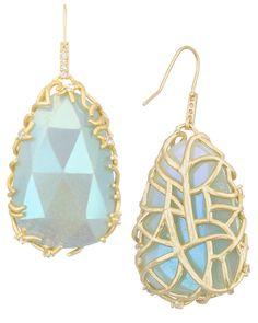 Stone Nest Drop Earrings in Amazonite - Kendra Scott Jewelry. Pomellato, Kendra Scott Jewelry, Lorraine, Statement Jewelry, Nest, Jewelry Box, Jewerly, Drop Earrings, Stone