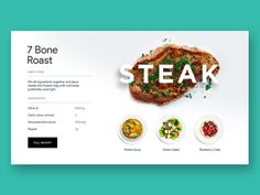 Steak from earlier project Art direction Kumbari Web Layout, Website Design Layout, Layout Design, Food Web Design, Web Design Mobile, Minimal Web Design, Restaurant Website, Page Design, Design Design