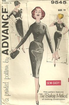 Advance 9545 Vintage Sewing Pattern