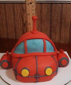 Handmade fondant little red 3-d rocket ship cake topper and accessory kit by CreativeCakesbyLisa on Etsy https://www.etsy.com/listing/183399663/handmade-fondant-little-red-3-d-rocket
