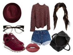 """""""Sin título #2311"""" by marifer-oso on Polyvore featuring moda, ZeroUV, Levi's, Alexander Wang, Redopin, New Balance y Lime Crime"""