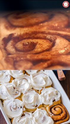 """Easy Cinnamon Rolls Recipe Big, soft, homemade Cinnamon Rolls have the best cream cheese icing and they always disappear fast. As my sister puts it, they are """"better than Cinnabon! Quick Cinnamon Rolls, Cinnabon Cinnamon Rolls, Easy Cinnamon Roll Icing Recipe, Cinnamon Roll Glaze Recipe Without Cream Cheese, Kitchen Aid Cinnamon Roll Recipe, Mini Cinnamon Buns, Orange Cinnamon Rolls, Pancakes Cinnamon, Cinammon Rolls"""