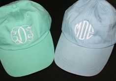 Monogrammed Baseball Cap - Personalized with Monogram - Choose from 20 Colors. $16.49, via Etsy.