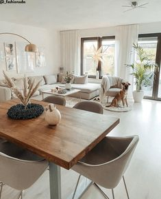Esstisch Oliver mit Massivholzplatte At table please! The dining table is the heart of the interior Diy Bedroom Decor, Living Room Decor, Home Decor Inspiration, Home And Living, Living Room Designs, Home Accessories, Sweet Home, Dining Table, Furniture