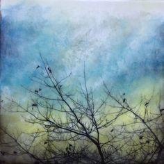 """""""A glow within"""" Encaustic artwork Encaustic Painting, Pottery Painting, Watercolor Landscape, Abstract Landscape, Wax Art, Flow Painting, Beginner Art, Abstract Pictures, Tree Art"""