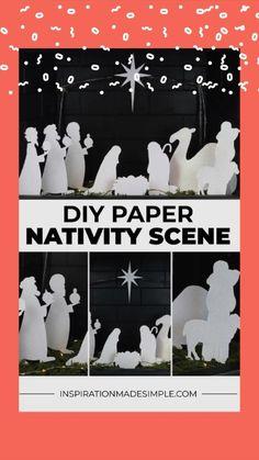 Christmas Crib Ideas, Diy Christmas Village, Christmas Nativity Set, Christmas Window Decorations, Diwali Decorations, Christmas Paper, Christmas Holidays, Christmas Crafts, Diy Nativity
