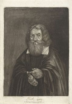 Johann Friedrich Leonard | Portret van een onbekende man, mogelijk Nicol. Grey of Caspar Pusch, Johann Friedrich Leonard, 1669 |