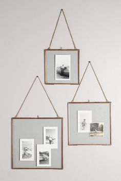 Sweet idea for a small wall gallery