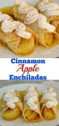 These Cinnamon Apple Enchiladas are drenched in syrup with a slightly crisp top…